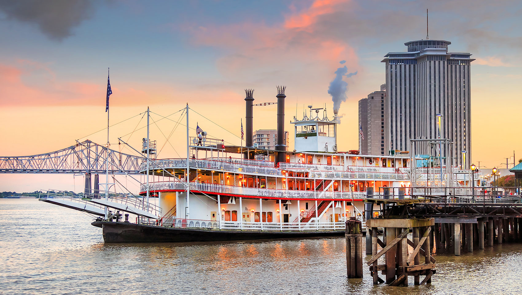 Steamboat at Port of New Orleans